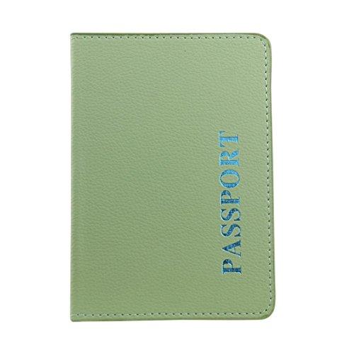 YJYDADA Card Pocket,Passport Holder Protector Wallet Business Card Soft Passport Cover (Green)