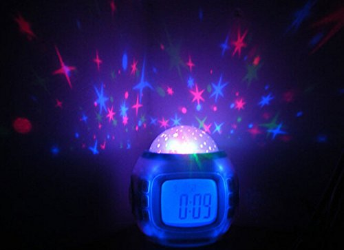 Clock Cosmo (Qinol LED Cosmos Star Master Sky Starry Night Light Lamp Projector Alarm Clock (1 pc))