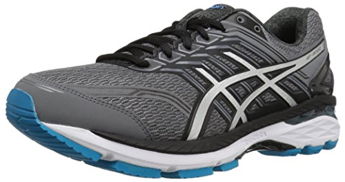 ASICS Men's GT-2000 5 Running Shoe, Carbon/Silver/Island Blue, 8 4E US