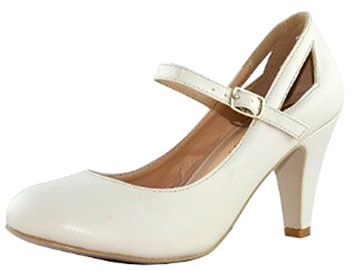 Intouch Chaussures Chase & Chloe Femmes Kimmy-40 Mary Jane Chaussures À Bout Rond