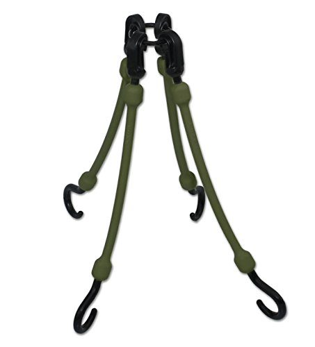 The Perfect Bungee by BihlerFlex, FW12-4CG 4-Arm Flex-Web Bungee Cords, 12