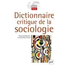 Dictionnaire critique de la sociologie [nouvelle édition]