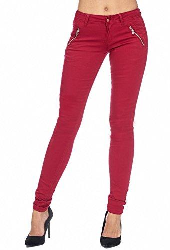 Arizonashopping - Hosen Pantaloni In Tessuto Da Donna Tube Treggings Skinny Fit D1943 Chiaretto