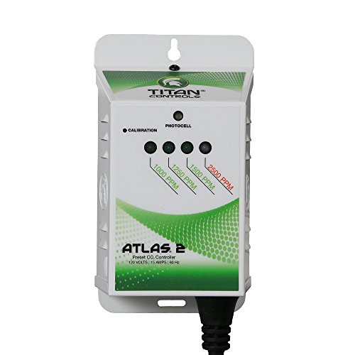 Titan Controls Preset Carbon Dioxide (CO2) Monitor & Controller, 120V - Atlas 2 by Titan Controls