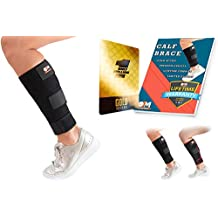 Calf Brace - Calf Compression Sleeve for Men and Women – Provides Targeted Support for Shin Splints, Calf Strain, Fibula Stress Fracture, and Muscle Cramps – Leg Wrap Brace from Breathable (Black)