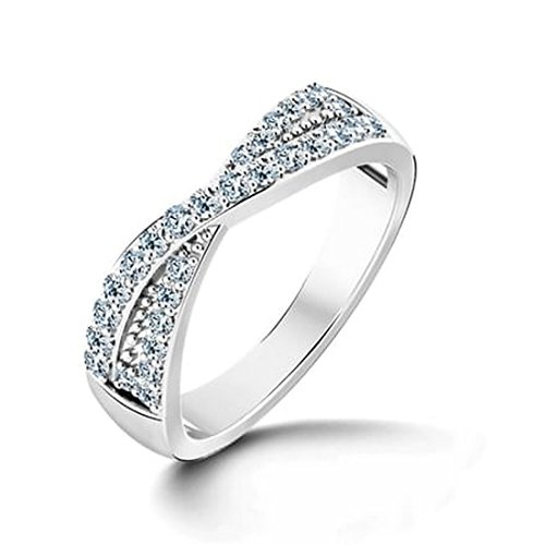 18K Or Blanc, 0,28carat Diamant Taille ronde (IJ   SI) en diamant
