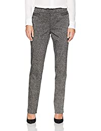 York Women's Petite Super Stretch Millennium Welt Pocket Pull on Career Pant