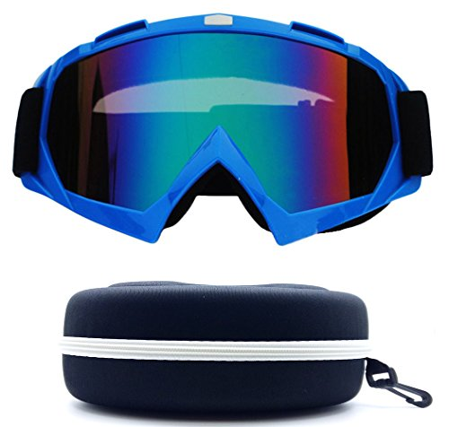 (#Goggle-Blu) One Stop Discount Shop Newest Sharp Designer Unisex Men Women Ski Goggles Winter Sport Motor Bike UV Protection Snowboarding Protective Safty Glasses Snowmobile Resistant Monster Large