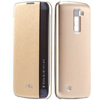 meet 13883 3a7c8 SmartLike Lg Stylus 2 Plus Gold Leather Flip Cover for: Amazon.in ...