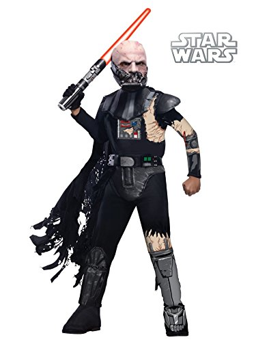 Vader Damaged Darth Costume Battle (Deluxe Battle Damaged Darth Vader Child Costume -)