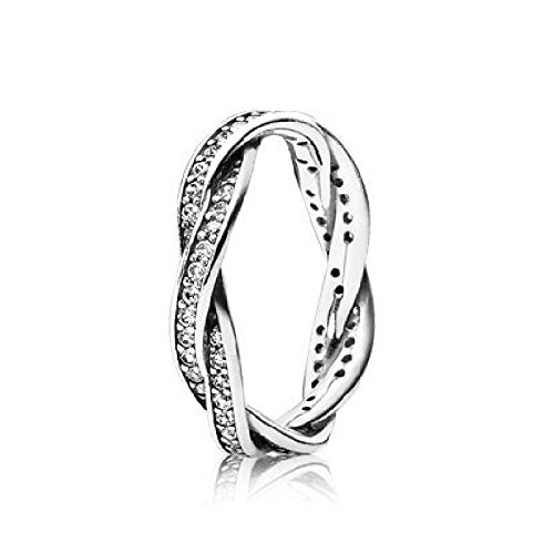 05842d428 Amazon.com: Pandora Ring Twist of Fate, Clear Cubic Zirconia, Size 52 Eur:  Jewelry