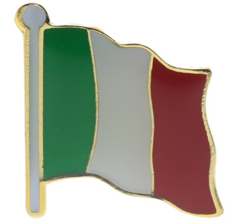 Italy Flag Hat Lapel Pin 1 Inch