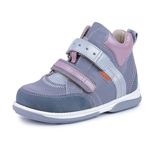 Memo Polo 3JD Diagnostic Sole Ankle Support Girl's Orthopedic Leather Sneaker, 23 (7T) by Memo