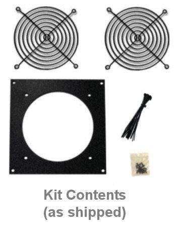 Coolerguys Bare Fan Bracket Kit for single hole 92mm (bare Kit) Multimedia Cabinet Cooling / Home Theaters by Coolerguys