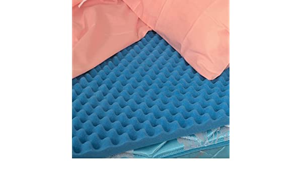 amazoncom dmi convoluted foam bed pad mattress topper hospital size 33 x 76 x 4 inches blue by duromed health u0026 personal care