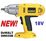 DEWALT DW059B 1/2-Inch 18-Volt Cordless Impact Wrench (Tool Only)