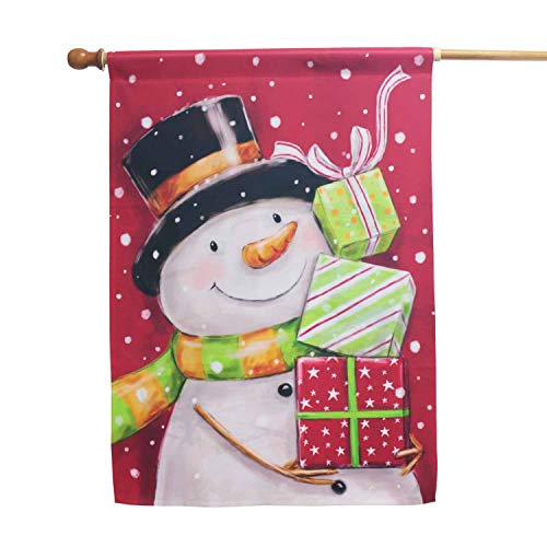 - LAYOER Garden Flags Christmas Snowman Gift Winter Holiday House Home Welcome (28x40 inch)