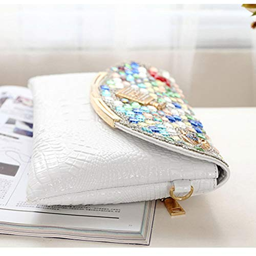Women Bag Evening Bag and Envelope White Handbags for Bags Fashion Crossbody GSPOR Wedding Clutches Party SFwqnx5FH