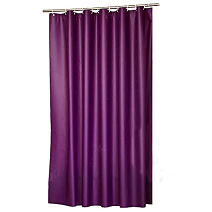Amazon Adwaita PEVA Purple Shower Curtain Liner Mildew Free 72