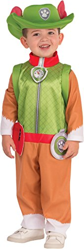 [Childs Boy's Paw Patrol Tracker Jungle Pup Costume X-Small 2-4] (Mayor Costume Child)