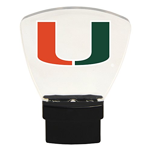 Authentic Street Signs NCAA Officially Licensed-LED Night Light-Super Energy Efficient-Prime Power Saving 0.5 watt, Plug in-Great Sports Fan Gift for Adults-Babies-Kids Room (Miami ()