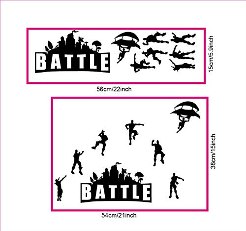 ELion Fortnite Wall Decor Peel & Stick Poster Decals 21x15 Inch by ELion (Image #4)