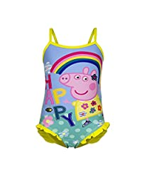Happy Peppa Pig Rainbow Swimsuit ,Children Swimsuit 2 Colours: Red & Yellow