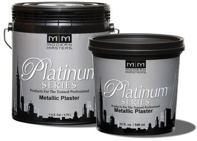 Modern Masters PSMP739 1 Gallon Platinum Series White Sand Metallic Plaster - Modern Masters Plaster