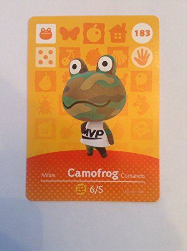 Nintendo Animal Crossing Happy Home Designer Amiibo Card Camofrog 183/200 USA ()