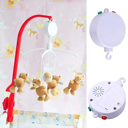 Homeofying 12Melodies Baby Kids Mobile Windup Crib Bed Bell Electric Autorotation Music Box
