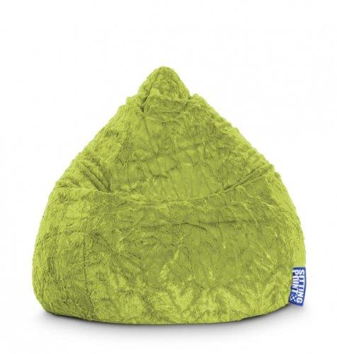 Sitting Point Sitzsack Fluffy L ca. 120 Liter grün (bis ca. 7 Jahre)
