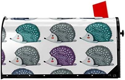 ようこそメールボックスカバーレイジーハリネズミ磁気ラップレターボックスポストボックスカバーガーデンヤードの装飾21x18 インチ