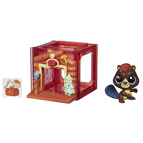 Littlest Pet Shop Mini Style Set with Beaver Figure ()