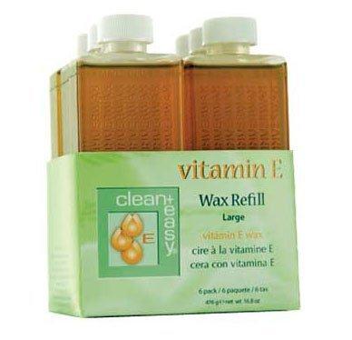 Clean+Easy Vitamine E Wax Refill Large - 6pk