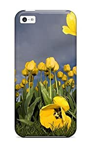 TYH - HSoesOx3048herum Yellow Flower Patch Awesome High Quality ipod Touch4 Case Skin ending phone case