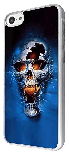 316 - Sugar skulls Fire Eyes Fashion Design iphone 5C Coque Fashion Trend Case Coque Protection Cover plastique et métal
