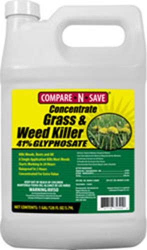 Compare-N-Save Concentrate Grass and Weed Killer, 41-Percent Glyphosate, 1-Gallon (Best Thing To Kill Weeds In Flower Beds)