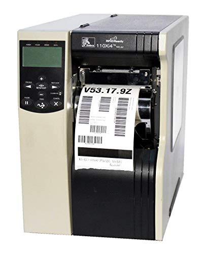 Zebra 110Xi4 113-8G1-00200 Thermal Barcode Label Printer Parallel USB Network Wireless Rewinder RFID 300DPI