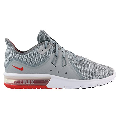 Nike Air Max Sequent 3 Size 10 Mens Running Cool Grey/University Red-Wolf Grey Shoes