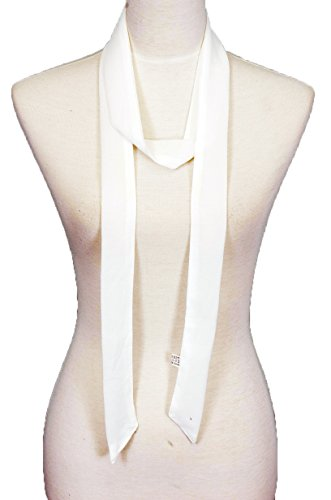 (Solid color, Summer skinny scarf (WHITE))