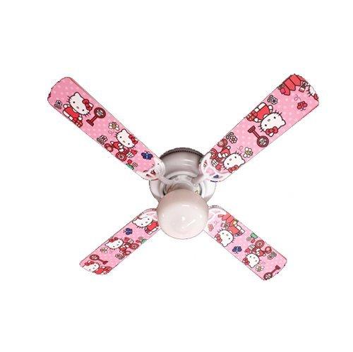 Ceiling Fan Designers Ceiling Fan, Hello Kitty Sweet Dreams, 42