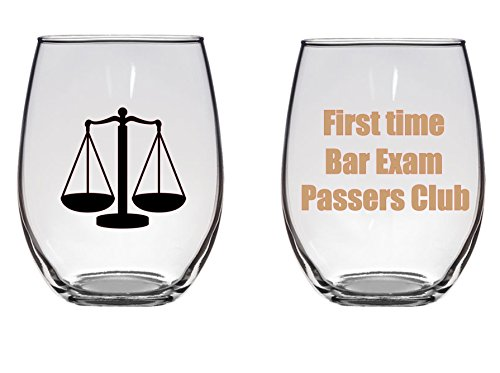 First Time Bar Exam Passers Club Large Wine Glass, Lawyer, Attorney, Law School Grad Gift, 21 oz (Best Lawyers Of All Time)