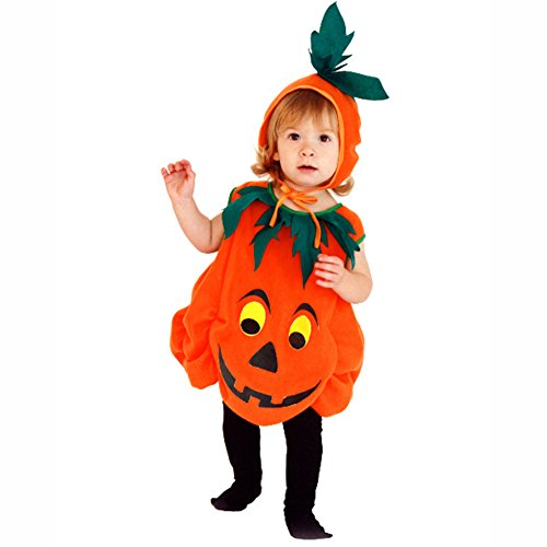 Albee Yang 2017 new cute pumpkin outfit Orange Party costume Halloween children outfit Masquerade (Masquerade Outfits)