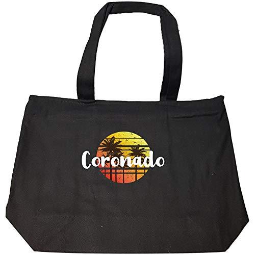 (Vintage Coronado Sunset Gift Beach Holiday Souvenir - Fashion Zip Tote Bag)