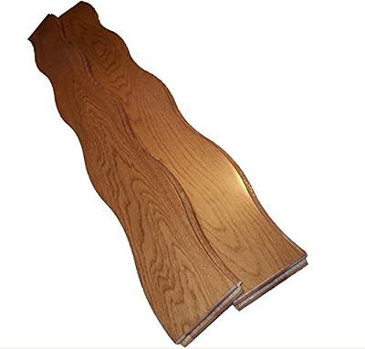 """AMERIQUE COBS-081 One Carton of 22.50SQFT Unique & Gorgeous Prefinished Curved Butterscotch Color, Premium Grade, 3/4""""(Th) X3-1/4(W) X3'(L), 22.50SF/Ctn Solid Oak Hardwood Floor, Coverage: 22.50 Sqft"""