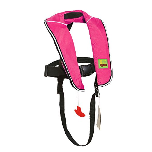 Eyson Inflatable Life Jacket Inflatable Life Vest for Child Classic Automatic (Pink) ()