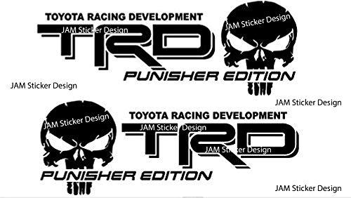 2X TRD Skull Punisher Edition Vinyl Decal 6