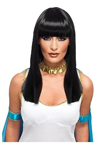 Deluxe Black Cleopatra Costumes Wig (Adult Deluxe Cleopatra Wig Standard)