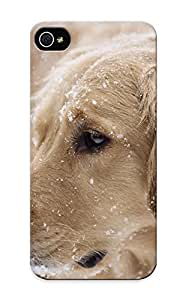 New Fashion Premium Tpu Case Cover For Iphone 5/5s - Cute Dog In The Snow Case For New Year's Day's Gift