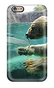 Fashionable Style Case Cover Skin For Iphone 6- Polar Bear In Water